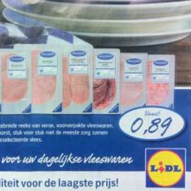 Lidl introduceert nieuwe lijn vleeswaren
