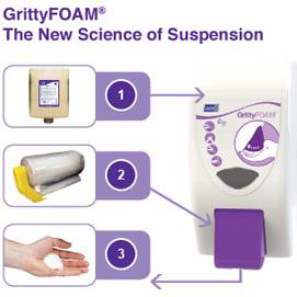 DEB GrittyFoam handreiniging en besparing