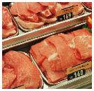 Vlees verdoofd gecastreerd varken later in schap