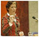 Minister Verburg eerste klant duurzamer varkensvlees
