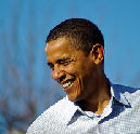 'President Obama fan van slager Joep uit Appelscha