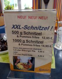 Honger? schnitzel van een kilo