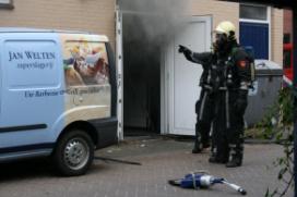 Brand bij slagerij Welten