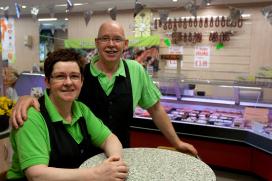 Slager Heuver trekt klanten met groente