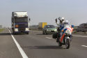 Vrachtwagen lekt slachtafval