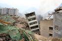 Aardbeving China ramp voor vleesproductie