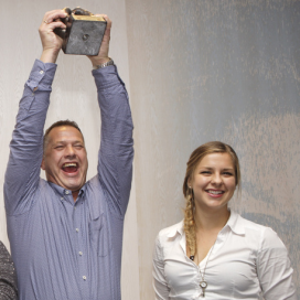 Rien Baas uit Leerdam wint Bronzen Rookworst 2014