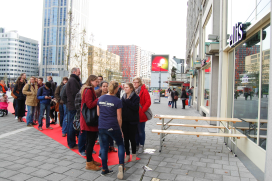 Rotterdam in rij voor gratis hamburger