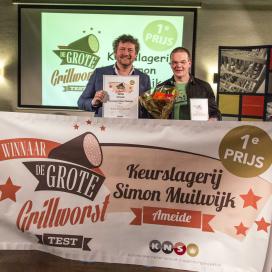 Keurslagerij Simon Muilwijk wint Grote Grillworst Test 2015