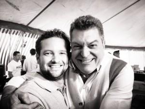 Jiri Brandt met leermeester Dario Cecchini