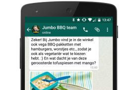 Jumbo lanceert barbecue-service via Whatsapp