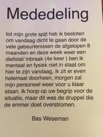 Slagerij Weseman houdt deuren gesloten na vierde inbraak