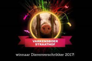 Varkensboer Straathof uitgeroepen tot Dierenverschrikker van 2017